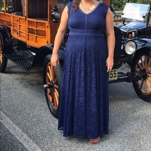 Blue lace gown